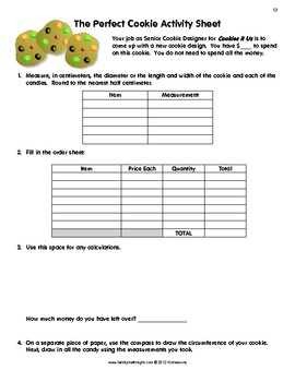 Cookie Fun Way to Teach Money, Arithmetic, and Geometry