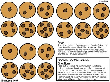 Cookie Gobble Game – a numbers and quantities game for preschool