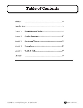 Cookie Jar Case/Mock Trial - Lesson 5: the Mock Trial