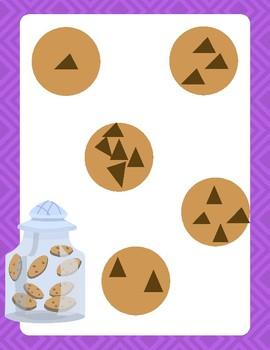 Cookie Jar Counting: File Folder Game