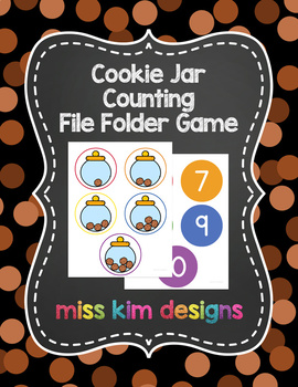 Cookie Jar Counting File Folder Game for Special Education