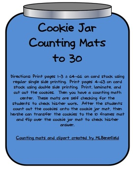 Cookie Jar Counting Sets Mats