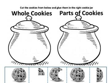 Cookie Jar - Cut and Paste - Part-Whole