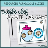 Cookie Jar Game for Treble Clef Google Slides Distance Learning Music Activity