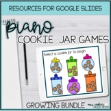 Cookie Jar Google Slides Games for Piano Bundle for Distance Learning