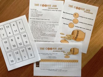 SUBTRACTION MATH GAME - THE COOKIE JAR