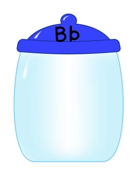 Cookie Jar Letter Sort Game for Preschool, PreK, Homeschool, and K