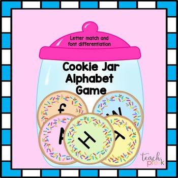 Cookie Jar Letter Sort Game for Preschool, PreK, Homeschoo