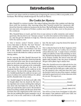 Cookie Jar Mystery - A Study in Forensic Science Complete Set