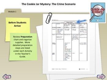 Cookie Jar Mystery Teacher Tutorial for Module 1 - The Crime Scenerio