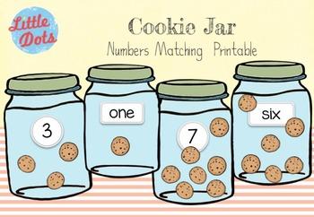 Cookie Jar Numbers Matching Printable