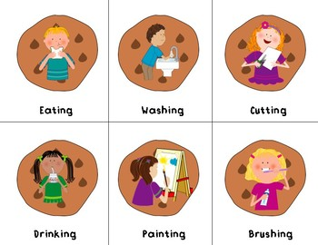 Cookie Jar Pronouns and Action Verbs