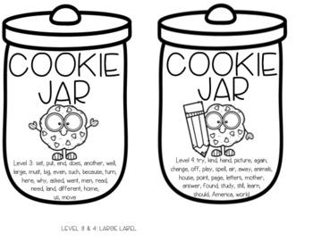 Cookie Jar Sight Word Center #2