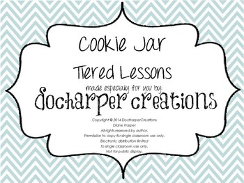 Cookie Jar - Tiered Math Activities