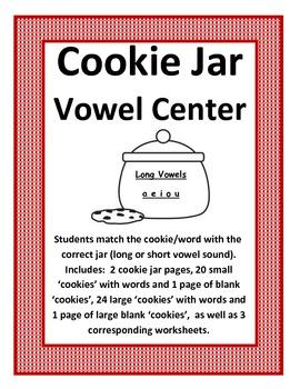 Cookie Jar Vowel Sort 14 pages