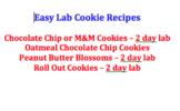 Cookie Lab Recipes