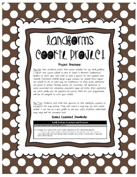 Cookie Landform Project Science Essential Standards 3.E.2.1 and 3.E.2.2