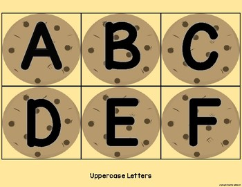 Cookie Letter Cards - Uppercase and Lowercase Letters