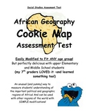 Cookie Map Test - African Geography - An EDIBLE Test! (PDF)