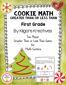 Cookie Math - Greater Than or Less Than (Two player math g