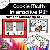 Counting and Addition Math Interactive PDF: Addition to 20