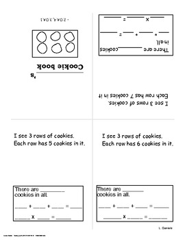 Cookie Math Multiplication Arrays Grade 2 and 3
