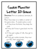 Cookie Monster Letter ID Game
