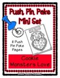 Cookie Monster - Push Pin Poke No Prep Printables - 6 Pict