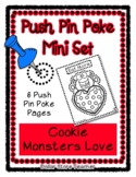 Cookie Monster - Push Pin Poke No Prep Printables - 6 Pict