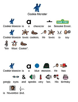 Cookie Monster - picture supported text lesson visual supports review questions