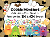 Cookie Monsters - Articulation card game to target /sh/ /ch/ sounds Speech Tx