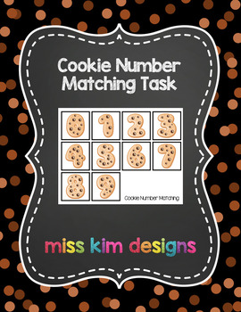 Cookie Number Matching Folder Game for Early Childhood Spe