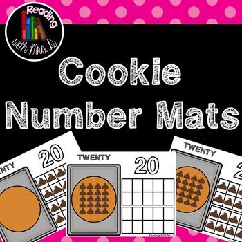 Cookie Number Playdough Mats