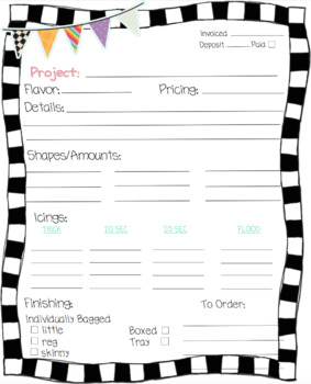 Cookie Order Forms and Binder Covers