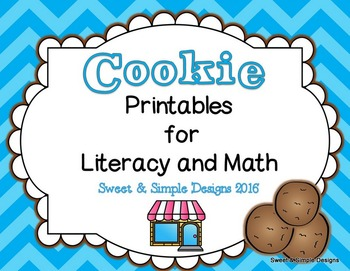 Cookie Printables for Literacy and Math