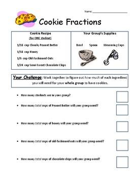 Cookie Recipe Fractions