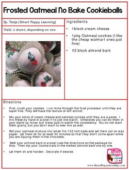 Cookie Recipe Printable