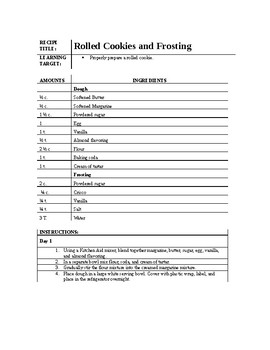 Cookie Recipes Packet