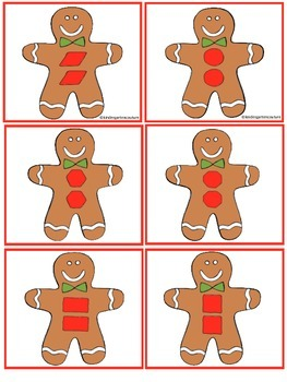Cookie Shapes- A Gingerbread Man Predictable Reader and Posters (Bundled)