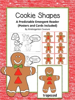Cookie Shapes- A Gingerbread Man Predictable Reader and Po