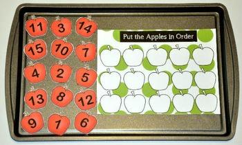 "Apple Cookie Sheet Activities--""Apple Themed Bundle 2"""