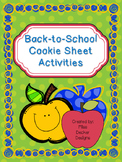 Cookie Sheet Activities - Back- To- School