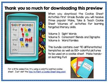 Cookie Sheet Activities First Grade Bundle