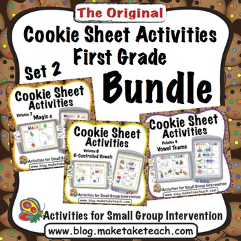 Cookie Sheet Activities First Grade Bundle Set 2