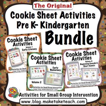 Cookie Sheet Activities Pre K- Kindergarten Bundle