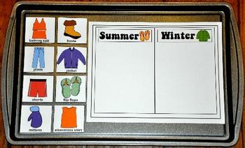 Summer Themed Cookie Sheet Activities