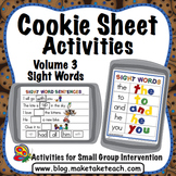 Sight Words - Cookie Sheet Activities Volume 3