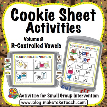 R- Controlled Vowels - Cookie Sheet Activities Volume 8