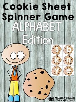 Cookie Sheet Alphabet Spinner Game