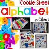 Distance Learning Alphabet Activities with Cookie Sheets